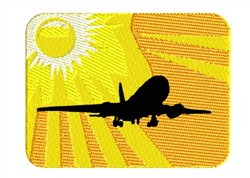 Airliner At Sunset embroidery design