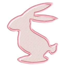 Rabbit Silhouette embroidery design