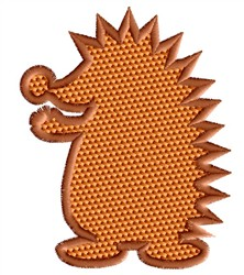 Hedgehog Silhouette embroidery design