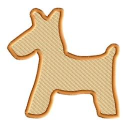 Scottish Terrier Silhouette embroidery design
