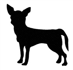 Chihuahua Silhouette embroidery design
