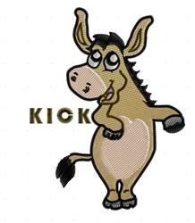 Kick embroidery design