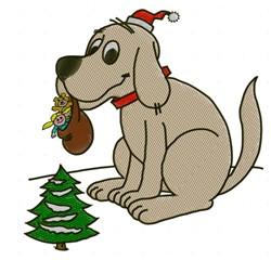 Big Dog Santa embroidery design