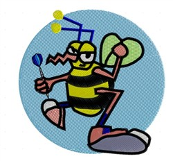 Bee With Dart embroidery design