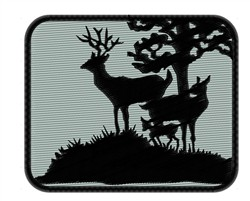 Deer Family Silhouette embroidery design
