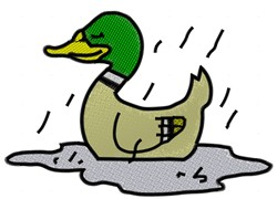 Duck In The Rain embroidery design