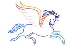 Pegasus Outline embroidery design