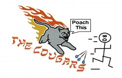 The Cougars embroidery design