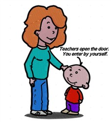 Teachers Open Doors embroidery design