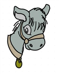 Pony Head embroidery design