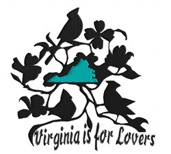 Virginia embroidery design
