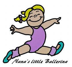 Nanas Little Ballerina embroidery design