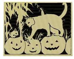 Cats And Pumpkins embroidery design