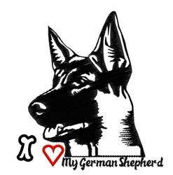 My German Shepherd embroidery design