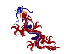 Colorful Dragon embroidery design