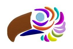 Colorful Bird Head embroidery design