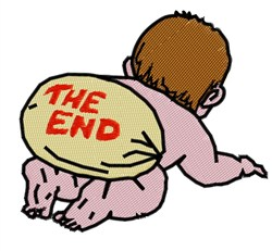 The End embroidery design