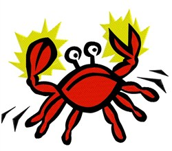Cute Crab embroidery design