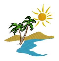Island Scene embroidery design