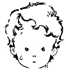 Weeping Boy embroidery design