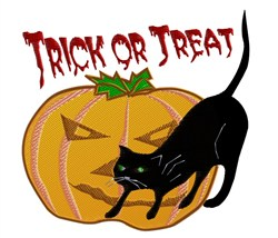 Trick Or Treat embroidery design