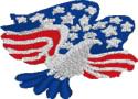 Patriotic Eagle embroidery design