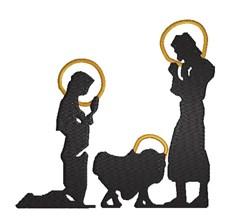 Nativity Silhouette embroidery design