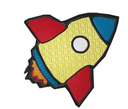 Toy Rocket embroidery design