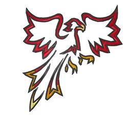 Phoenix embroidery design