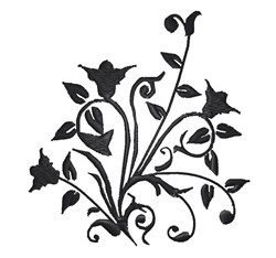 Flower Silhouette embroidery design