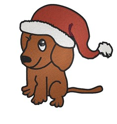 Puppy In Hat embroidery design