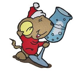 Santa Mouse embroidery design