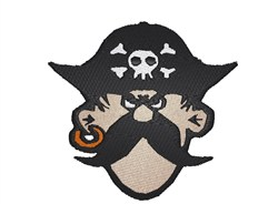 Pirate Head embroidery design