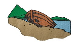 Boat Beached embroidery design