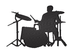 Drummer Silhouette embroidery design