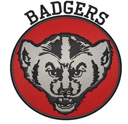Badgers embroidery design
