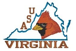 Virginia USA embroidery design