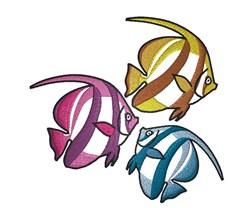 Three Fish embroidery design
