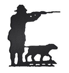 Hunter And Dog embroidery design