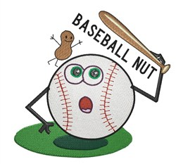 Baseball Nut embroidery design