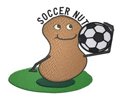 Soccer Nut embroidery design