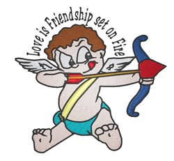 Love Is Friendship embroidery design