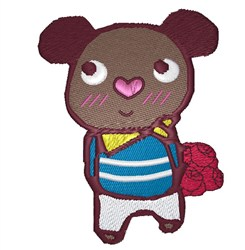 Chocolate Teddy embroidery design