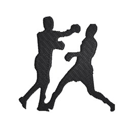 Two Boxers embroidery design