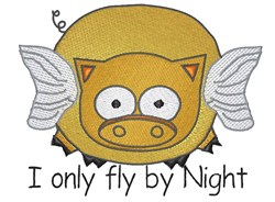 Fly By Night embroidery design