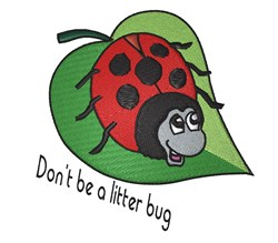 Litter Bug embroidery design