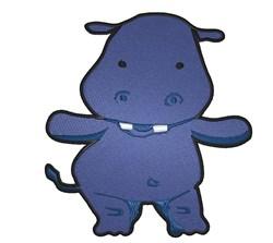 Cute Hippo embroidery design