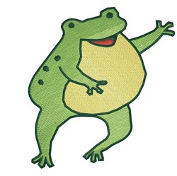 Cute Frog embroidery design