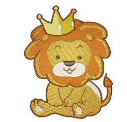 Lion With Crown embroidery design