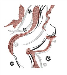 Nude Graphic Design embroidery design